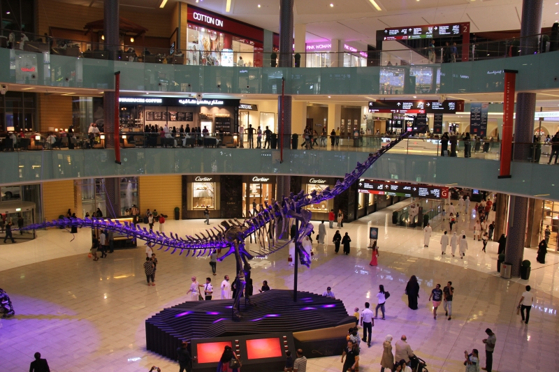 Dinosaurier in der Dubai Mall