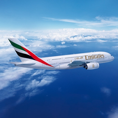 Airbus A380 von Emirates Airline