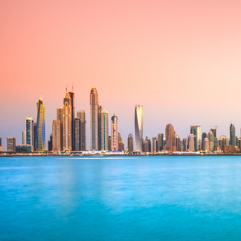 Jumeirah Beach Skyline in Dubai
